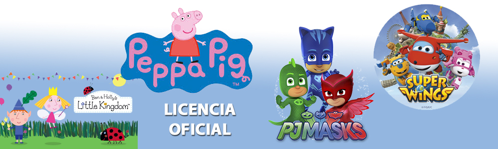Licencias Peppa Pig, PJ Mask, Super Wings, Ben y Holly